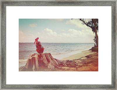 Christmas In The Sand Framed Print by JAMART Photography