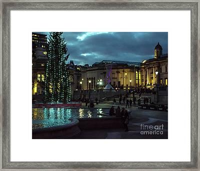 Christmas In Trafalgar Square, London 2 Framed Print