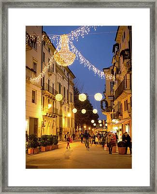 Christmas In Vicenza Italy Framed Print