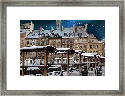 Framed Print featuring the photograph Christmas In Warsaw by Juli Scalzi