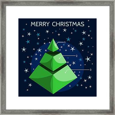 Christmas Infographic Framed Print
