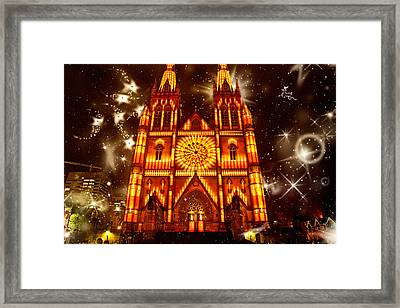 Christmas Is Coming Yey Framed Print