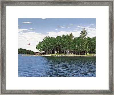 Framed Print featuring the painting Christmas Island Muskoka by Kenneth M Kirsch