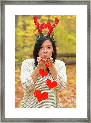 Framed Print featuring the photograph Christmas Kisses.. by Nina Stavlund