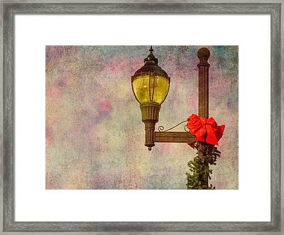 Christmas Lamp Post Framed Print by Phillip Burrow