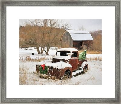 Christmas Lawn Ornament Framed Print
