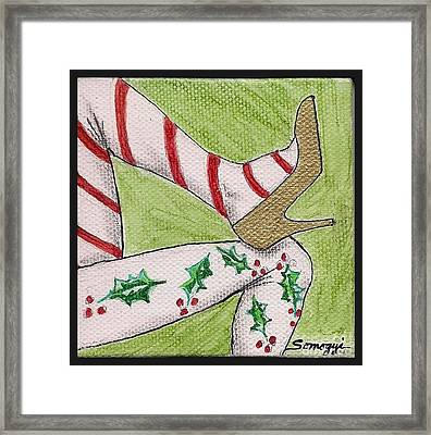 Christmas Legs Framed Print