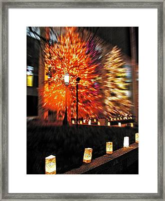 Christmas Light Framed Print by Steve Ohlsen