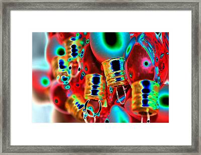 Christmas Lights 2 Framed Print by Tiffany Vest