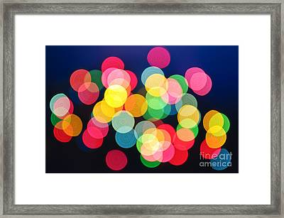 Christmas Lights Abstract Framed Print