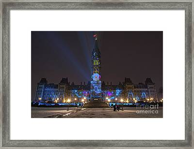 Christmas Lights Across Canada.. Framed Print by Nina Stavlund
