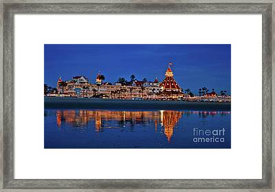 Christmas Lights At The Hotel Del Coronado Framed Print