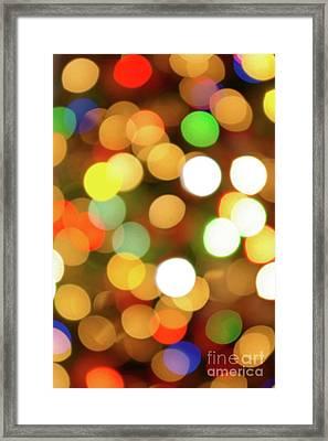 Christmas Lights Framed Print by Carlos Caetano