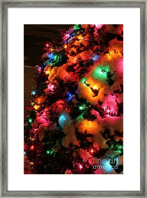 Christmas Lights Coldplay Framed Print by Wayne Moran