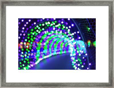 Christmas Lights Decoration Blurred Defocused Bokeh Framed Print