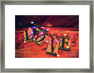 Christmas Love Decoration Framed Print