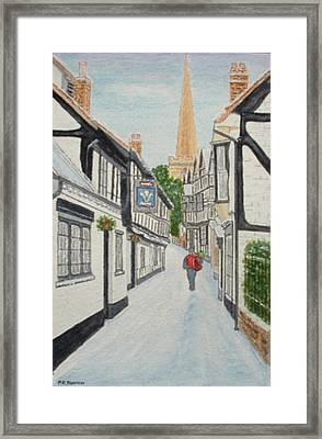 'christmas Mail', Ledbury, Herefordshire Framed Print by Peter Farrow