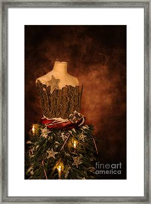 Christmas Mannequin Framed Print by Amanda Elwell