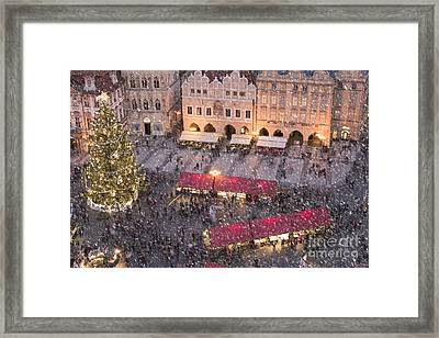 Christmas Market In Prague Framed Print by Juli Scalzi