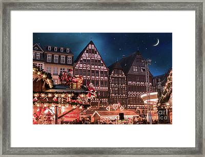 Christmas Market Framed Print by Juli Scalzi