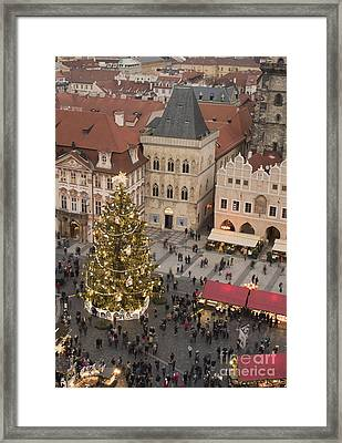 Christmas Market. Prague Framed Print by Juli Scalzi