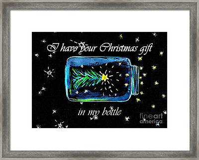 Christmas Mason Jar Framed Print by Sweeping Girl