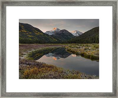 Christmas Meadows Autumn Framed Print by Leland D Howard