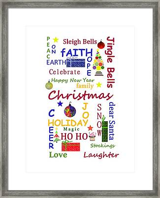 Christmas Message Framed Print by Kathleen Sartoris