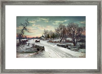 Christmas Morn, C1885 Framed Print
