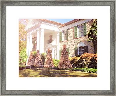 Christmas Morning At Graceland Framed Print by JAMART Photography