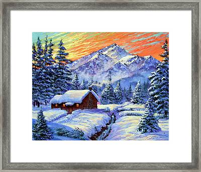 Christmas Morning Framed Print by David Lloyd Glover