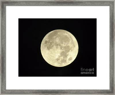 Christmas Morning Full Moon 2015 Framed Print