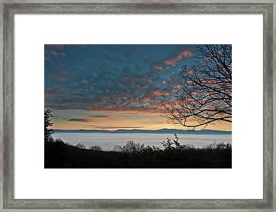 Framed Print featuring the photograph Christmas Morning Sunrise 2016 by Lara Ellis