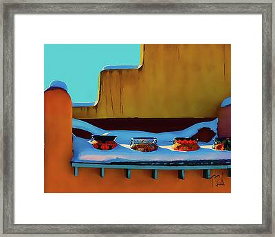 Christmas Morning Taos Framed Print
