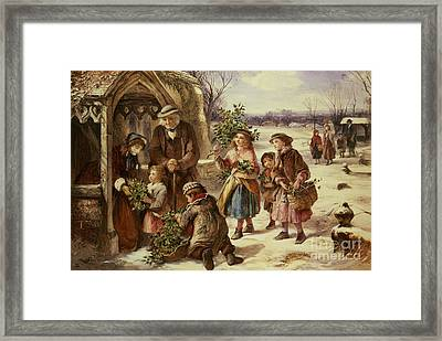 Christmas Morning Framed Print by Thomas Falcon Marshall