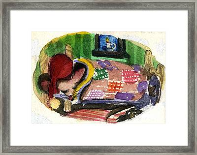 Christmas Mouse Framed Print by Mindy Newman