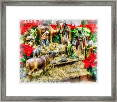 Christmas Nativity Framed Print by Esoterica Art Agency