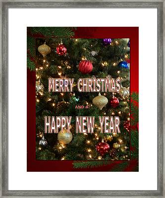 Christmas New Year Card Framed Print by Debra     Vatalaro