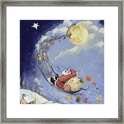 Christmas Night Framed Print by David Cooke