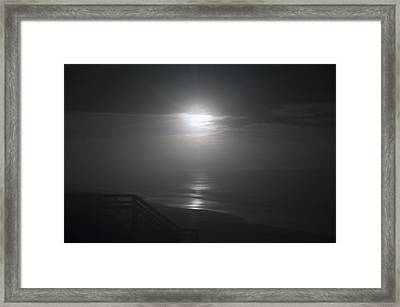 Christmas Night Moon Framed Print