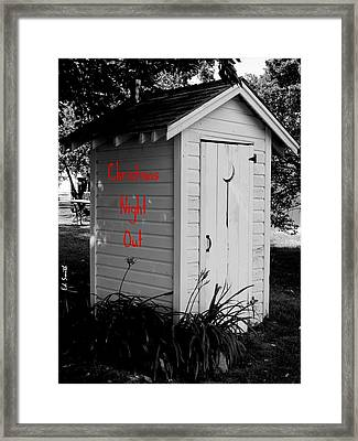 Christmas Night Out Framed Print by Ed Smith