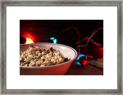 Christmas Oatmeal Breakfast Framed Print
