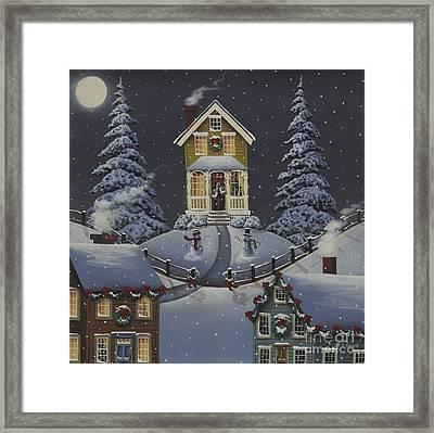 Christmas On Hickory Hill Framed Print