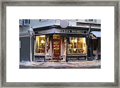 Christmas On Main St. Framed Print by Butch Lombardi