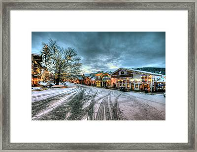 Christmas On Main Street Framed Print