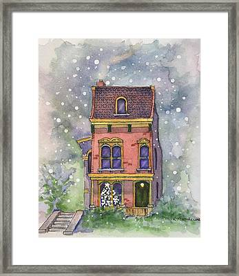 Christmas On North Hill Framed Print