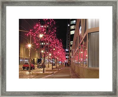Christmas On Ottawa Street Framed Print by Richard Mitchell