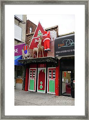 Framed Print featuring the photograph Christmas On Sherman Avenue  by Cole Thompson