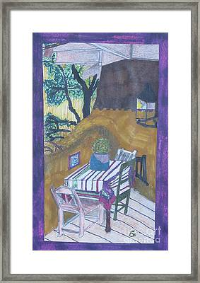 Christmas On The Deck In Santa Fe Framed Print by James SheppardIII