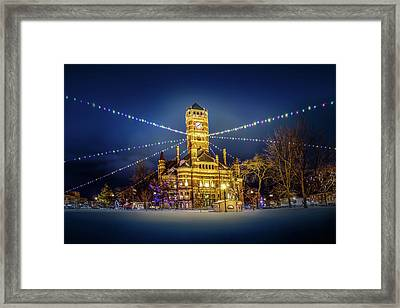 Christmas On The Square 2 Framed Print